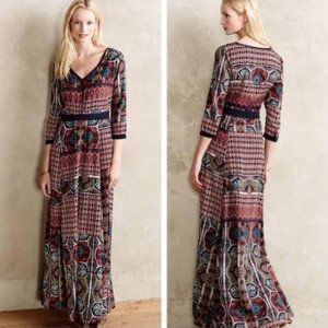 Anthropologie Chloe Oliver Patchwork Maxi Dress S